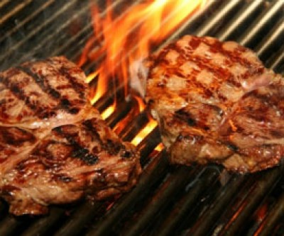 Gaucho Grilled Steaks with Mint Chimichurri