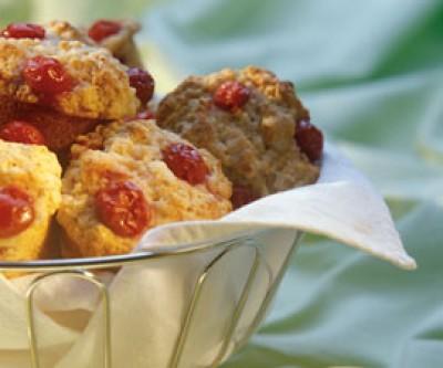 Orange Cherry Muffins