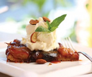 Apple Tart Tatin with Amaretto Whipped Cream
