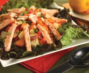 Leafy Artichoke and Salmon Salad