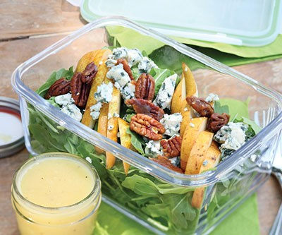 Pear and Blue Cheese Arugula Salad