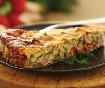 Ricotta, Vegetable & Ham Pie