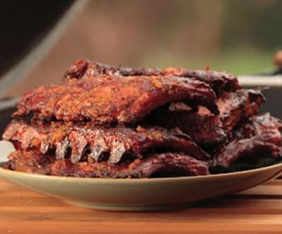 Slow Smoked Pork Ribs with Louisiana Hot Sauce
