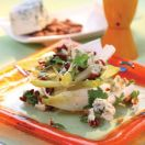 Belgian Endive with Blue Cheese and Smoked Almond Salad with Honey and Oil Vinaigrette