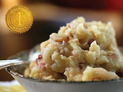 Apple Cheddar Potato Mash - Saltscapes Magazine