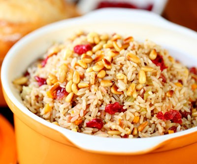 Rice Pilaf with Dried Cranberries