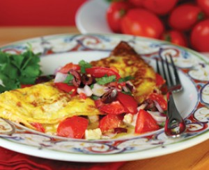 Greek inspired Omelet with a fresh Salsa