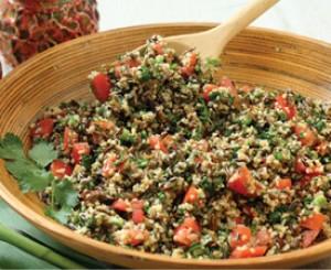 Wild Rice and Bulgur Salad