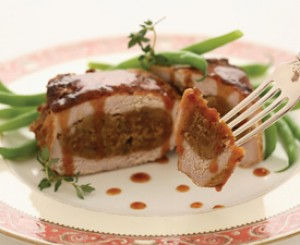 Fig-Stuffed Pork Chops