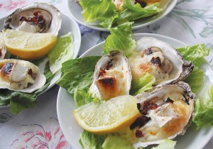 Kim's Ruisseau Oysters with Bacon and Brie