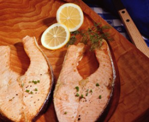 Beer Poached Salmon with Barbecue Sauce