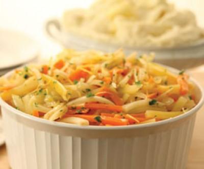 Steamed Root Vegetables Julienne