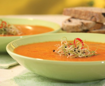 Fresh Tomato and Red Pepper Soup